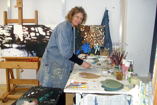 Noëlle Koppers in atelier